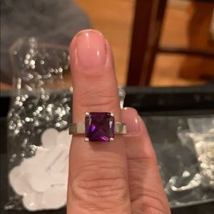 Amethyst 925 silver cocktail ring